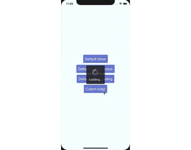 react native toast like component works on IOS and Android