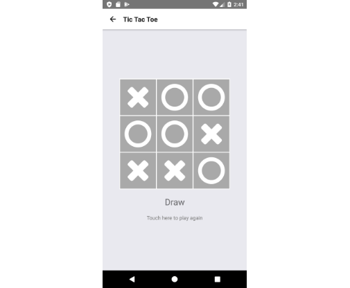React Native Tic Tac Toe game