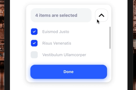 Easy to Use Multiple Select Library for React Native
